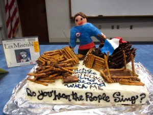 Edible Book Contest Crowd Favorite: the Les Miserables cake