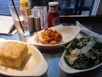 Sam and I tried out Philco in the Short North this week - I got a coney dog, maple ricotta cornbread, and an arugula parmesan salad.  Everything was delicious!